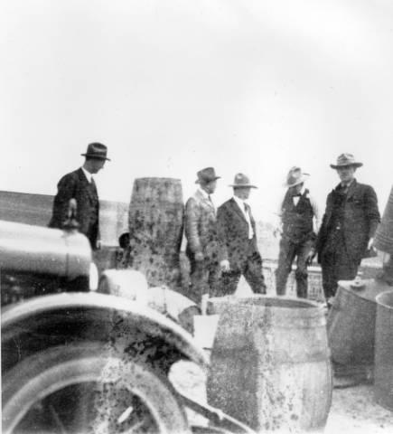Seizure of a still near Greeley, Colorado. Denver Library Archives.