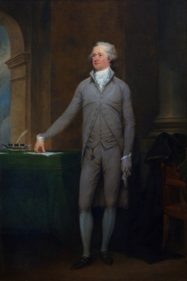 Got a lot farther by working a lot harder, by being a lot smarter. . . Portrait of Alexander Hamilton by John Trumbull, 1792